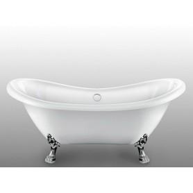 Акриловая овальная ванна отдельностоящая Magliezza Julia 175x73, ножки хром ➦