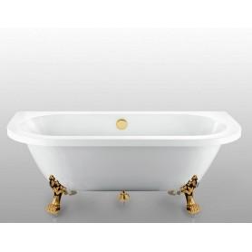 Акриловая овальная ванна Magliezza Elena ножки бронза 168,5x78
