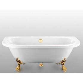 Акриловая овальная ванна Magliezza Elena ножки золото 168,5x78 ➦ Vanna-retro.ru