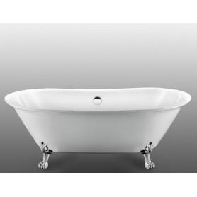 Акриловая овальная ванна отдельностоящая Magliezza Ottavia 165x76 ножки хром ➦