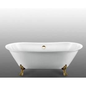 Акриловая овальная ванна отдельностоящая Magliezza Ottavia 165x76 ножки бронза