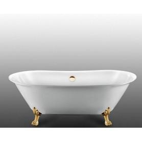Акриловая овальная ванна отдельностоящая Magliezza Ottavia 165x76 ножки золото