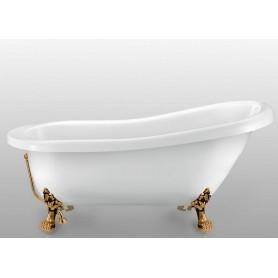 Акриловая овальная ванна отдельностоящая Magliezza Alba 155,5x72,5 ножки бронза