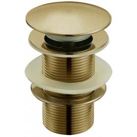Донный клапан для раковины Boheme 610 цвет бронза ➦