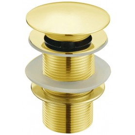 Донный клапан для раковины Boheme 611 цвет золото ➦