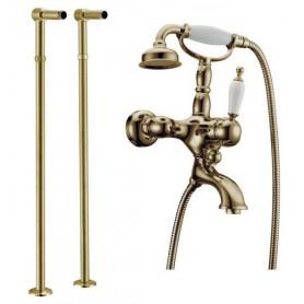 Смеситель для ванны напольный Boheme Medici Ripresa 303, 601 (бронза)