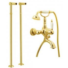 Смеситель для ванны напольный Boheme Tradizionale Oro 283, 602 (золото)