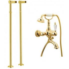 Смеситель для ванны напольный Boheme Imperiale Ripresa 323, 602 (золото)