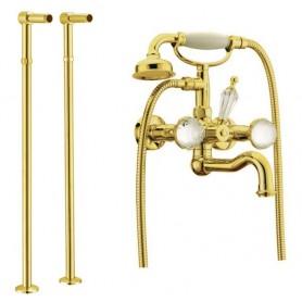 Смеситель для ванны напольный Boheme Imperiale Presente 333, 602 (золото)
