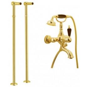 Смеситель для ванны напольный Boheme Tradizionale Nero 253, 602 (золото)