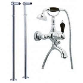 Смеситель для ванны напольный Boheme Tradizionale Nero 243, 603 (хром)