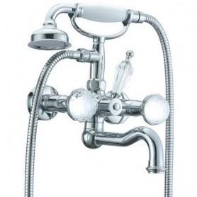 Смеситель для ванны Boheme Brillante Presente 353 (хром)