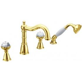 Смеситель на борт ванны ванны Boheme Imperiale Presente 392 (золото)