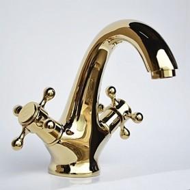 Смеситель для раковины Magliezza Classico 50108-do (золото) ➦ Vanna-retro.ru