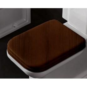 Деревянное сидение для унитаза Kerasan Waldorf 418840 с микролифтом, орех / хром