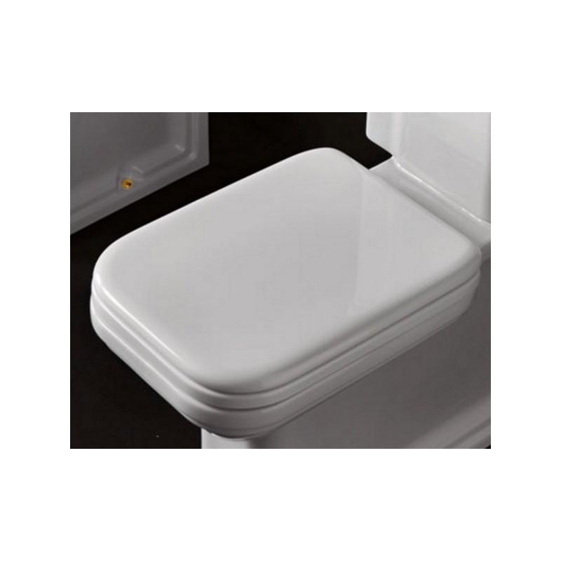 Сидение для унитаза Kerasan Waldorf 418801 с микролифтом, белое / хром ➦