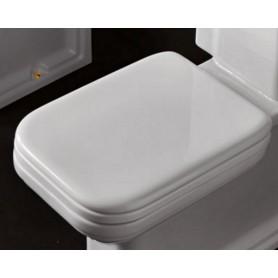 Сидение для унитаза Kerasan Waldorf 418701 с микролифтом, белый / золото ➦