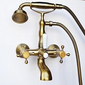 Смеситель для ванны в комплекте с лейкой TL-1-cr Magliezza Classico 50106-1-br