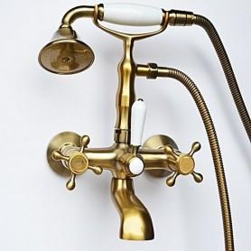 Смеситель для ванны в комплекте с лейкой TL-2-cr Magliezza Classico 50106-2-br