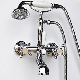 Смеситель для ванны в комплекте с лейкой TL-3-cr Magliezza Classico 50106-3-cr хром