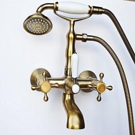 Смеситель для ванны в комплекте с лейкой TL--cr Magliezza Classico 50106-3-br