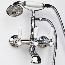 Смеситель для ванны в комплекте с лейкой TL-3-cr Magliezza Bianco 50105-3-cr хром
