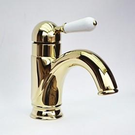 Смеситель для раковины Magliezza Grosso Bianco 50138-do золото ➦ Vanna-retro.ru