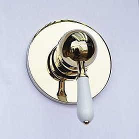 Встраиваемый смеситель для душа Magliezza Grosso Bianco 50133-do золото ➦