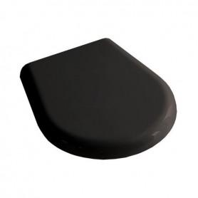 Сидение для унитаза черное Kerasan Retro 108804, хром