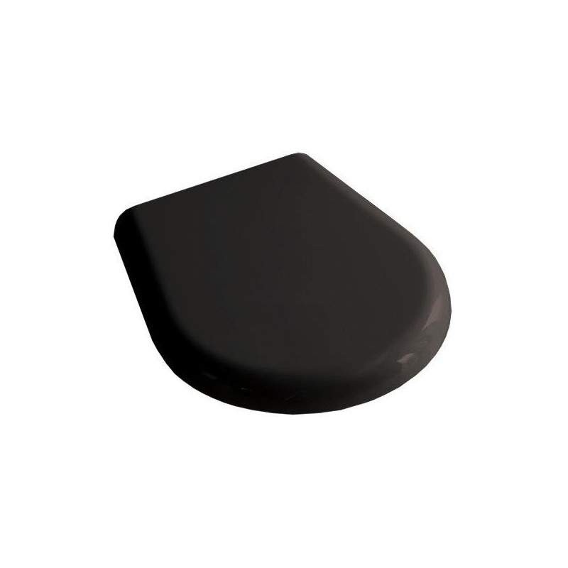 Сидение для унитаза черное Kerasan Retro 108704, золото -