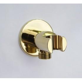 Выход с держателем для ручной лейки Magliezza 50307-do золото ➦ Vanna-retro.ru