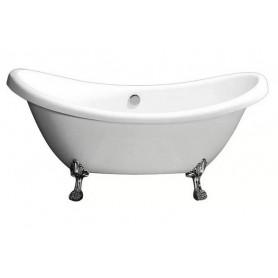 Ванна акриловая  Belbagno BB05 182x75 ножки хром