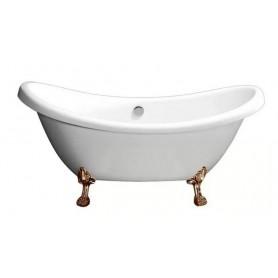 Ванна акриловая  Belbagno BB05 182x75 ножки бронза