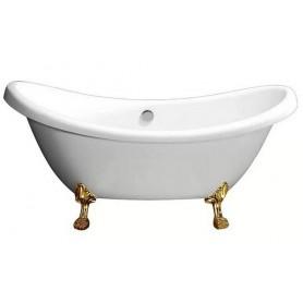 Ванна акриловая  Belbagno BB05 182x75 ножки золото