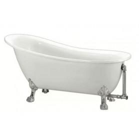 Ванна акриловая Belbagno BB06 155x76 ножки хром