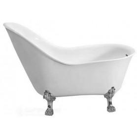 Ванна акриловая Belbagno BB08 147x78 ножки хром