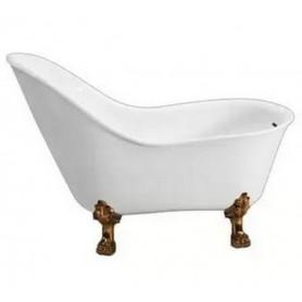 Ванна акриловая Belbagno BB08 147x78 ножки бронза