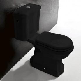 Унитаз моноблок (черный) Kerasan Retro 1013 (в стену) -