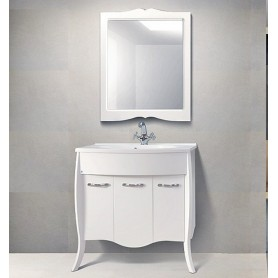 Мебель для ванной Белюкс Бриз 90 в белом цвете