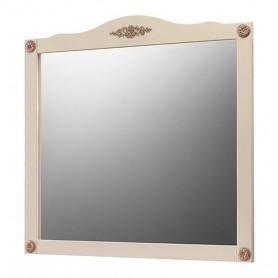 Зеркало Белюкс Верди 105  в цвете слоновая кость с патиной