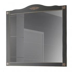 Зеркало Белюкс Верди 105  в черном цвете с патиной