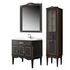 Мебель для ванной Белюкс Верди 85 в черном цвете с патиной