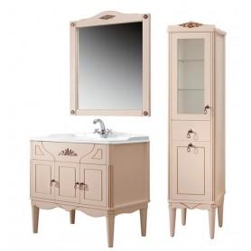 Мебель для ванной Белюкс Верди 85 в цвете слоновая кость с патиной