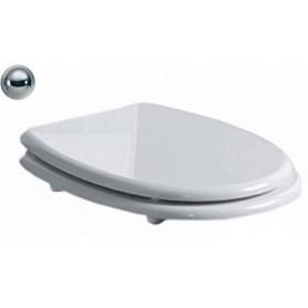 Сидение для унитаза Simas Arcade AR 002 белое, петли хром