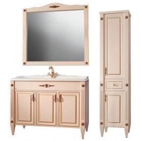 Мебель для ванной Белюкс Империя 105 в цвете слоновая кость / патина золото