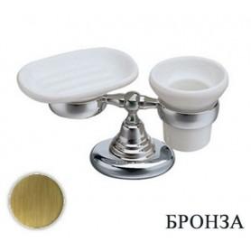 Стакан и мыльница Bagno & Associati Canova CA77292 бронза ➦ Vanna-retro.ru