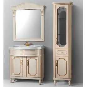 Мебель для ванной Белюкс Каталония 85 в цвете слоновая кость с золотой патиной