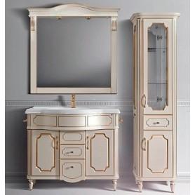 Мебель для ванной Белюкс Каталония 105 в цвете слоновая кость с золотой патиной