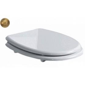 Сидение для унитаза Simas Arcade AR 007 белое, петли бронза с микролифтом