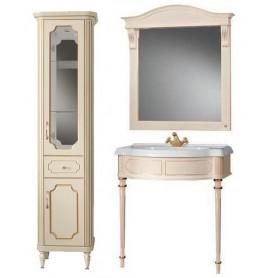 Мебель для ванной Белюкс Каталония Отель 85 в цвете слоновая кость с патиной
